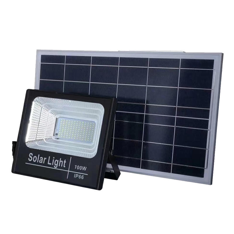 Good quality super Bright 30w /60w/100w/150w/200w  intelligent  2 year warranty solar LED flood  light
